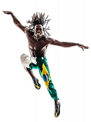 Obraz brazilský černoch tanečnice tančí na lyžích silueta