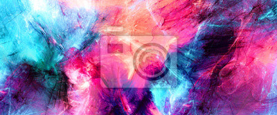 Obraz Bright artistic splashes. Abstract painting color texture. Modern futuristic pattern. Multicolor dynamic background. Fractal artwork for creative graphic design