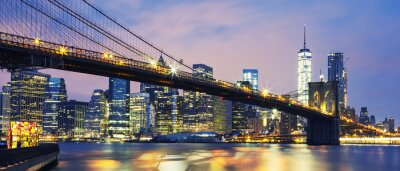 Obraz Brooklynský most za soumraku