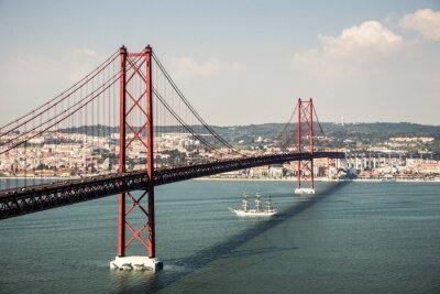 Obraz Brücke Ponte 25 de Abril v Lissabon