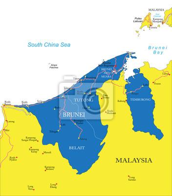 Brunej mapa