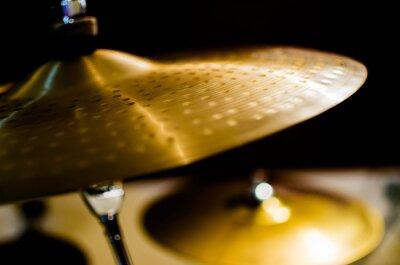 Obraz Bubny, činely a nástroje