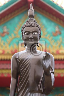 Obraz Buddha v chrámu u Nakhon Ratchassima