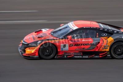 Obraz Burirum, Thajsko - 21. června: Kosuke Matsuura z AUTOBACS závodního týmu Aguri v Super GT Final Race 66 Laps na 2015 AUTOBACS SUPER GT Round 3 Buriram SUPER GT RACE dne 21. června 2015 Burirum, Thajsk