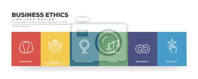 Obraz Business Ethics Line Icon Design