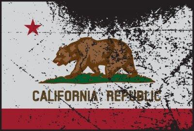 Obraz California Flag Grunged