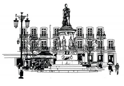 Obraz Camoes square v Lisabonu