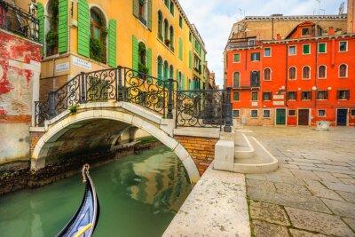 Obraz Canal v Benátkách, Itálie