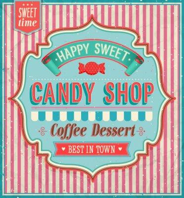 Obraz Candy shop - vektorové ilustrace