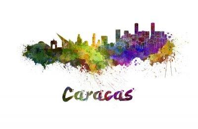 Obraz Caracas panorama v akvarel