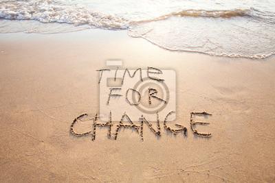 Obraz čas na změnu, koncept nové, život měnící a zlepšení