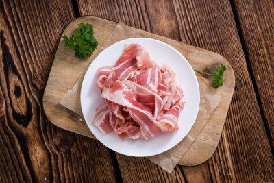 Obraz Část surového Bacon