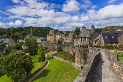 Castle of Fougeres in Brittany France