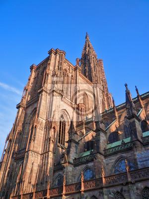 Cathédrale de Strasbourg vue depuis la Place du zámek
