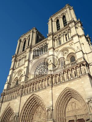 Cathédrale Notre Dame de Paris fasáda vue de droite