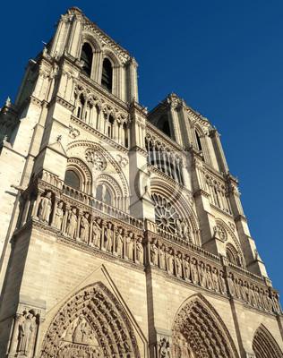 Cathédrale Notre Dame de Paris fasáda vue de gauche