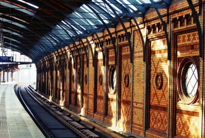Obraz Čekání na vlak