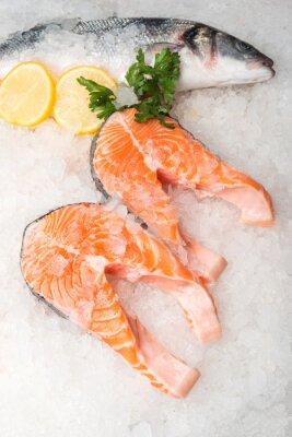 Obraz Celá makrela ryby a losos