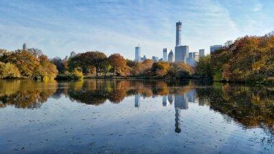 Obraz Central Park na podzim krajina odraz v New Yorku