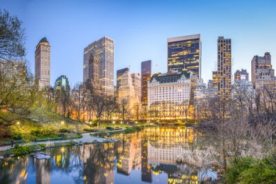Obraz Central Park New York City za soumraku
