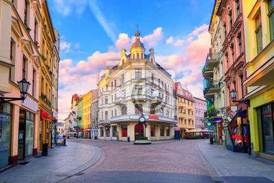 Centrální pěší ulice v polské Toruni