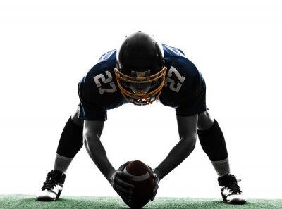 Obraz Centrum americký fotbalista silueta muže