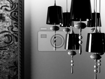 černá vintage lustr