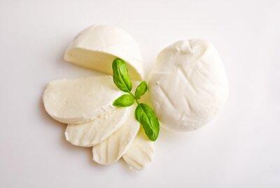 Obraz Čerstvá mozzarella s bazalkou