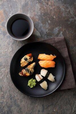 Obraz čerstvé sushi s rybami