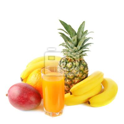 čerstvé tropické ovoce a šťávy