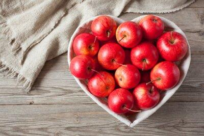 Obraz Červená jablka na stůl