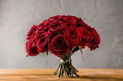 Obraz červená růže