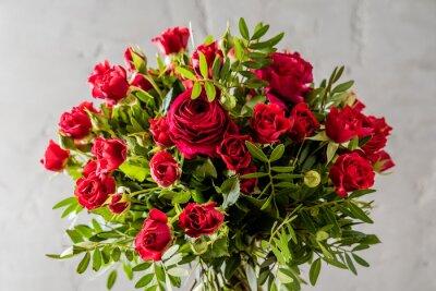 Obraz červené růže kytice