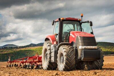 Obraz Červený traktor.