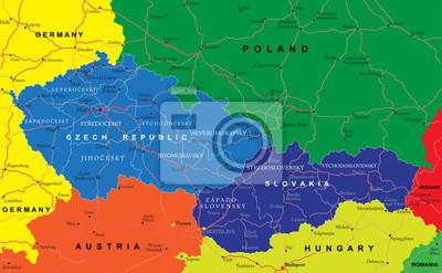 České a slovenské mapa republiky