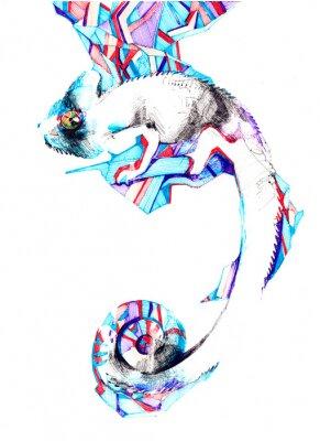Obraz chameleón