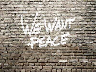 Chceme mír graffiti
