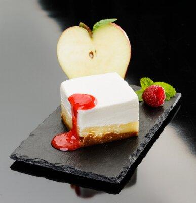 Obraz Cheesecake con mela e pěna di lampone