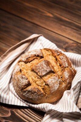 Obraz Chléb sortiment na dřevěné desce