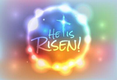 Obraz Christian Easter Risen Illustration
