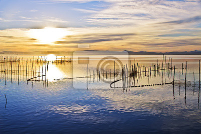 Obraz cielo azul en el agua