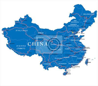 Čína mapa