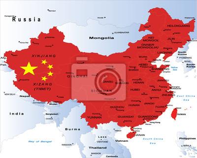 Čína-politická mapa