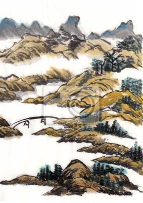 Čínská krajinomalba most
