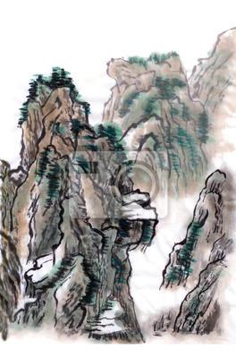 čínské krajinomalby hory