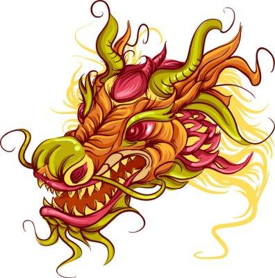 Obraz Čínský drak hlavy