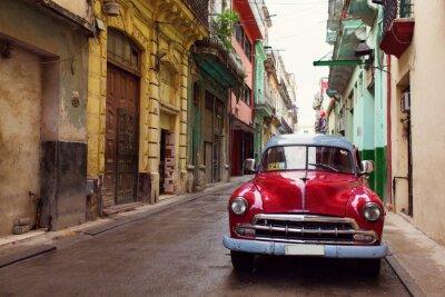 Obraz Classic staré auto na ulicích Havany, Kuba
