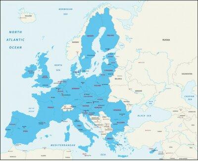 Obraz Členské státy Evropské unie mapa
