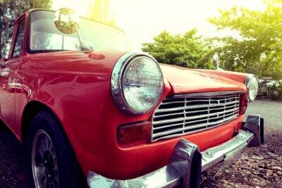 Obraz close-up světlometů barevné klasické auto