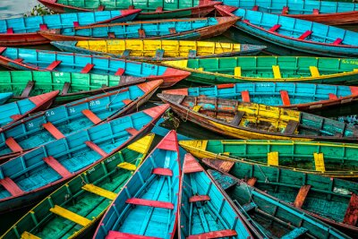 Obraz Colorful boats
